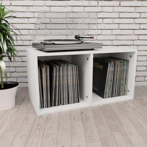 """main image of """"vidaXL Caja para Discos de Vinilo Mobiliario CDs Accesorios Organización Música Colección Hobbies Diseño Elegante Clásico Aglomerado Multicolor"""""""