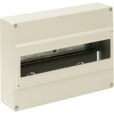 Caja para distribución de superficie hasta 14 elementos 280x192x68mm. (Solera 703)