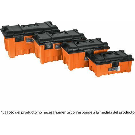 Caja para herramienta, plástica, color naranja