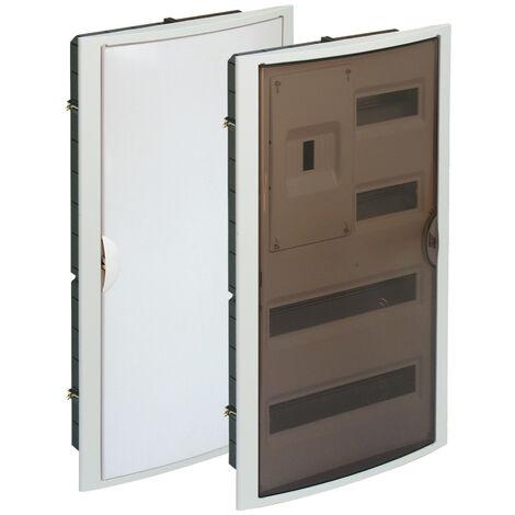 Caja para ICP y distribución de empotrar hasta 40 elementos blanco 320x670x75mm. (Solera 5440)