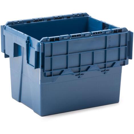 Caja plástica industrial Integra con tapa de 28 litros