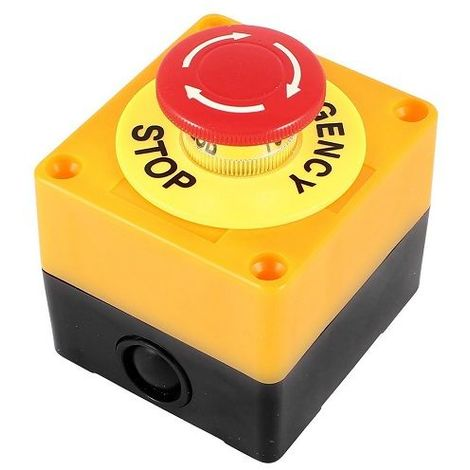 Caja pulsador parada de emergencia con bloqueo NC