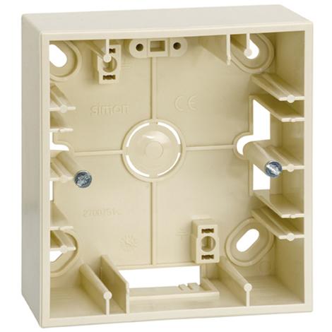 Caja superficie 1 elemento Serie 27 Play marfil