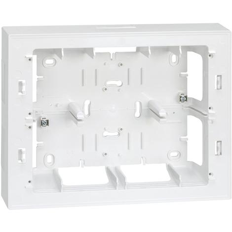 Caja superficie para placa 27722 Serie 27 blanco nieve