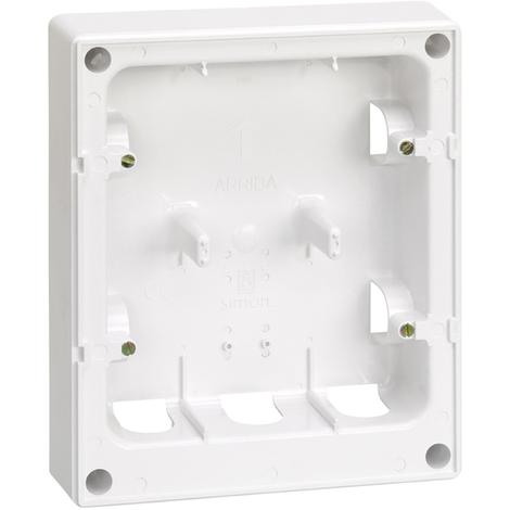 Caja superficie para placa 27851 Serie 27 Blanco nieve