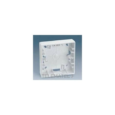 Caja superficie para place Serie 27 85 x 85mm marfil