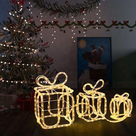 Cajas de regalo adorno navideño 180 LED interior y exterior
