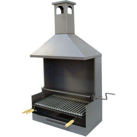 Cajón Barbacoa con chimenea para Obra-Elevador y Parrilla Inox Imex el Zorro 61x40x148
