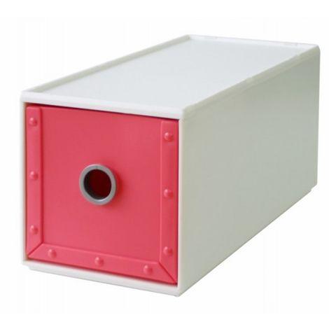 Cajonera Ordenacion Multiusos 119X266X126Mm Apilable Plastico Rosa Way-Be