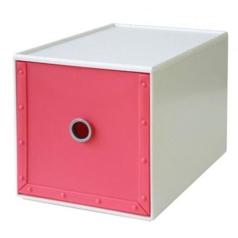 Cajonera Ordenacion Multiusos 168X264X173Mm Apilable Plastico Rosa Way-Be