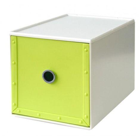 Cajonera Ordenacion Multiusos 168X264X173Mm Apilable Plastico Verde Way-Be