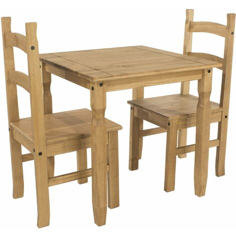 Caladonea square dining table & 2 chair SET