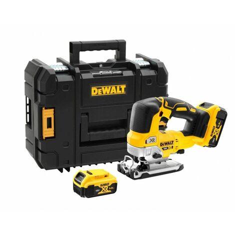 Caladora a batería Dewalt sin escobillas XR 18V 135mm con maletín y 2 baterías 5Ah DCS334P2