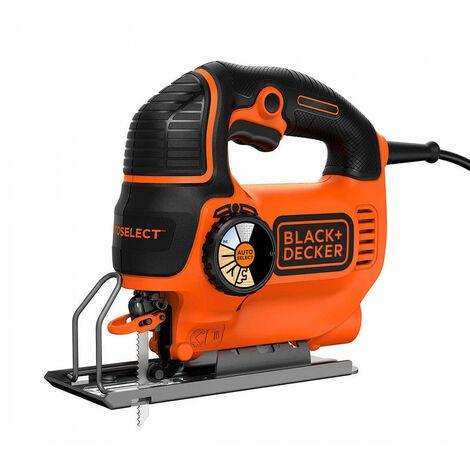 Caladora Black&Decker KS801SEK 550w 90mm tecnología autoselect con 2 hojas y maletín