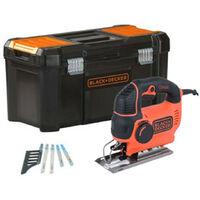 Caladora Pendular 620W 19mm + 5 hojas + caja de herramientas Black+Decker KS901PEKA5-QS