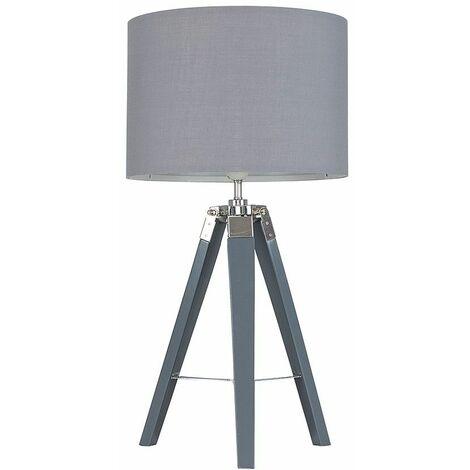Calbot Grey Tripod Table Lamp + LED Bulb