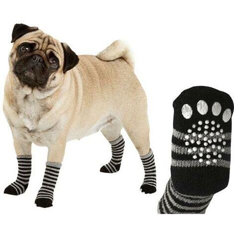 Calcetines para Mascotas proporciona agarre seguro en supercifices lisas, de Rayas disponible en varias opciones