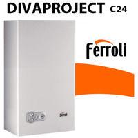 CALDAIA FERROLI DIVAPROJECT C24 CAMERA APERTA METANO 24 KW CLASSE A