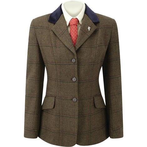 Caldene TEX Girls Silverdale Competition Jacket (32 Inch) (Brown)