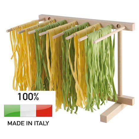 Calder Essiccatore Pieghevole Stendi Pasta Fresca Asciuga Legno di Faggio 18 x 35 cm Made in Italy