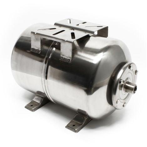 Calderín acero inoxidable 24L, depósito de presión, vaso expansión para grupo de presión doméstico