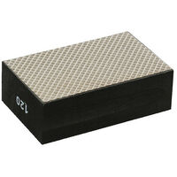 Cale à poncer manuelle diamantée Grain 120 L. 94 x 58 mm pour céramique et pierres naturelles - 11200097 - Sidamo - -
