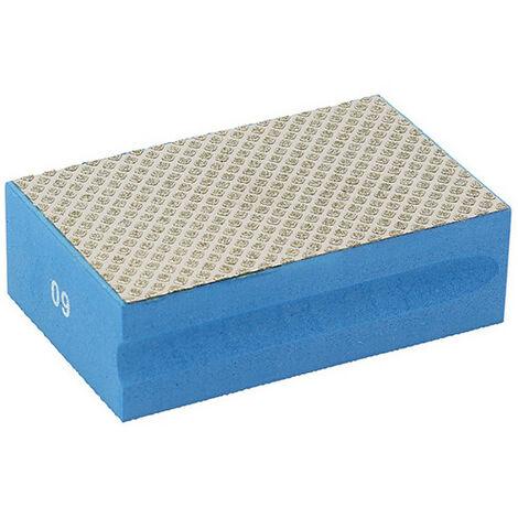Cale à poncer manuelle diamantée Grain 60 L. 94 x 58 mm pour céramique et pierres naturelles - 11200096 - Sidamo - -