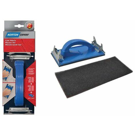 Cale à poncer spéciale plâtre - 115 x 280 mm OU 93 x 230 mm