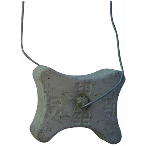 cale béton horizontale avec fils 3 positions avec ligatures 35/40/50 mm (sac de 185 pièces)