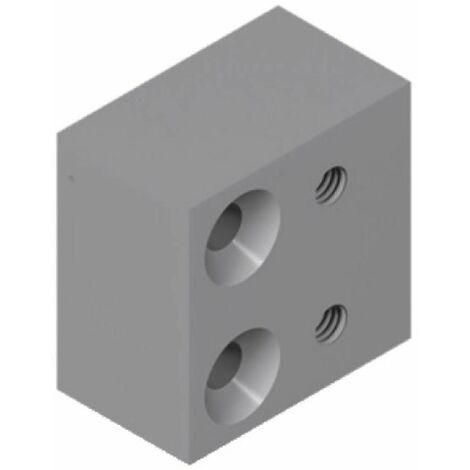 Cale finition blanc pour verrou 6218 pour coulissant menuiserie aluminium