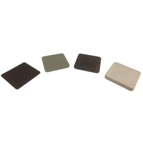 cale plastique de réglage dimensions 70x70 mm - PACK MIX 50 - épaisseur 2 - 3 - 5 - 10 mm