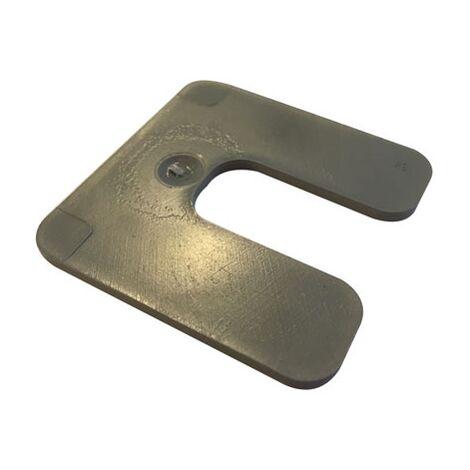 cale plastique de réglage forme U dimensions 70x70 mm épaisseur 3 mm (Sac de 75 cales)