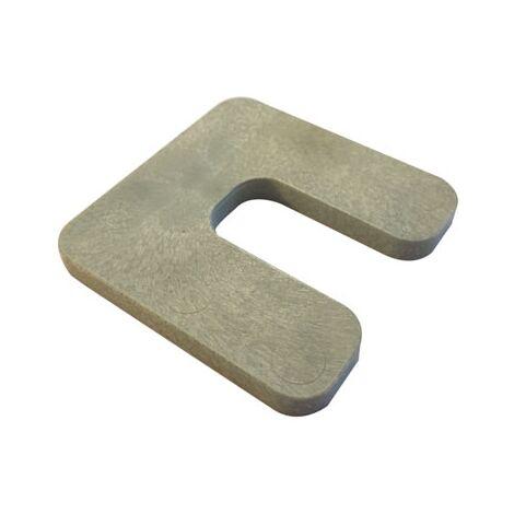 cale plastique de réglage forme U dimensions 70x70 mm épaisseur 7 mm (Sac de 40 cales)