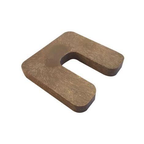 cale plastique de réglage forme U dimensions 70x70 mm épaisseur 9 mm (Sac de 25 cales)