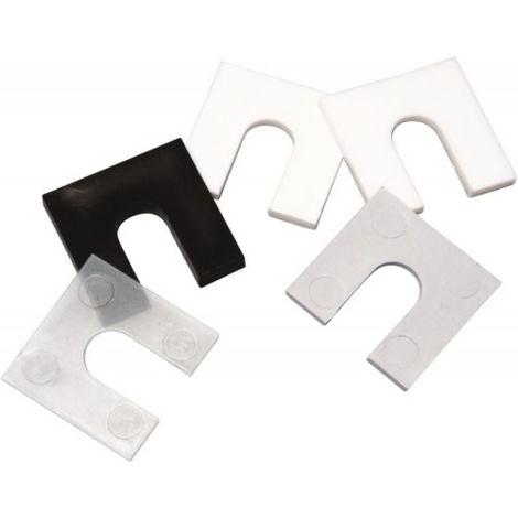 Cale plastique fourchette pour pose de menuiserie épaisseur 1 mm