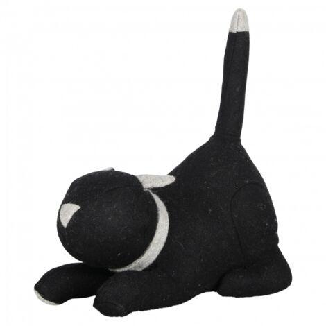 Cale-porte chat - L 14,2 cm x l 26,4 cm x H 30,5 cm - Noir - Livraison gratuite