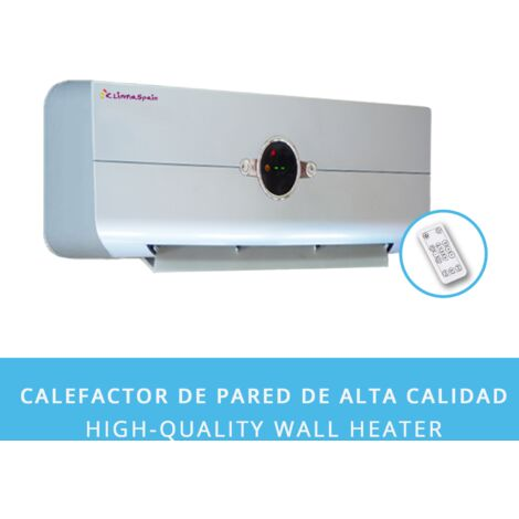 Calefactor Aire Caliente de Pared CALENTAMIENTO RÁPIDO Easy2020 Plata 2000W