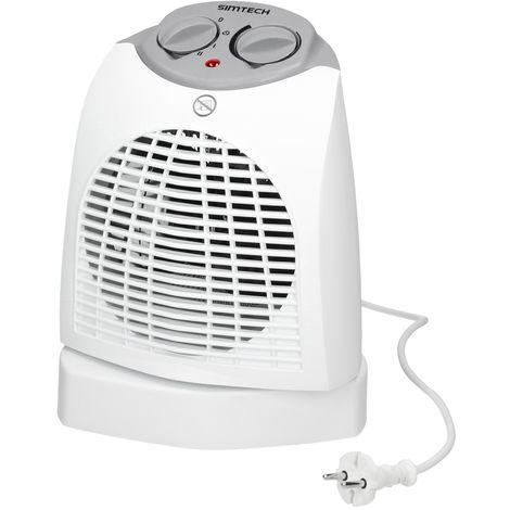 Calefactor aire ventilador eléctrico calor 2000 W baño calienta ambiente 2 vel