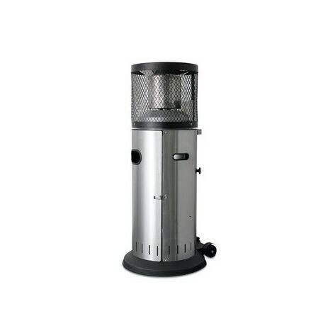 Calefactor bajo INOXIDABLE de gas para exterior con ruedas eho1111024-DESKandSIT-
