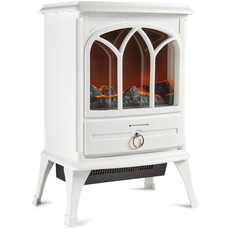 Calefactor Chimenea Eléctrico Moderno con Efecto Llama - Crema