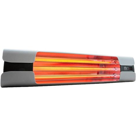 Calefactor de cuarzo por infrarrojo CasaFan 70003 CASATHERM Thermologika Design gris claro