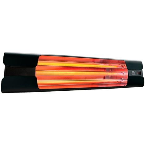 Calefactor de cuarzo por infrarrojo CasaFan 70005 CASATHERM Thermologika Design gris antracita