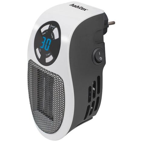 Calefactor de enchufe cerámico habitex hq349 450 w - talla