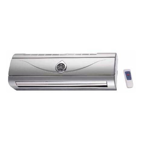 Calefactor de pared split color gris con mando a distancia 1000 / 2000W