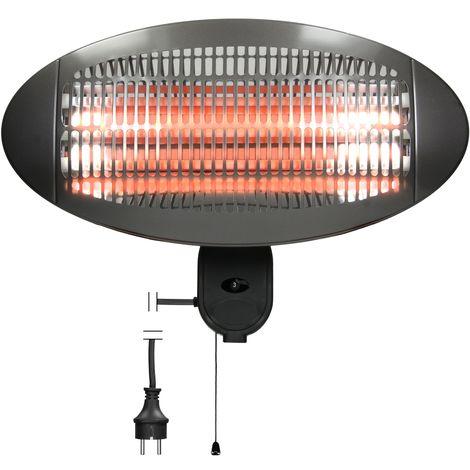 Calefactor exterior para teraza radiador 2000W estufa 3 niveles calor infrarrojo