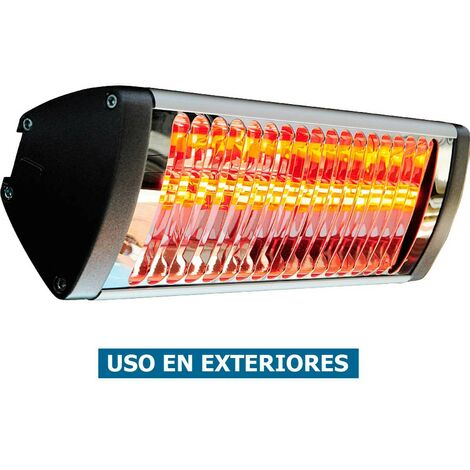 Calefactor hal¢geno por infrarrojo Vortice 70065 Thermologika Soleil Plus / 10 m2 / IPX5 / hasta -20§ C