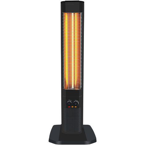 Calefactor halógeno vertical con resistencia de carbono y termostato ajustable HEATY 1800