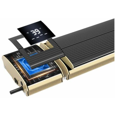 Calefactor infrarrojo Wifi 1800W cm 110x18,9x6,7 SINED JH-NR18-13W - Negro