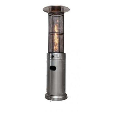 Calefactor inoxidable de gas para exterior flamme redonda con ruedas eho1122003-DESKandSIT-
