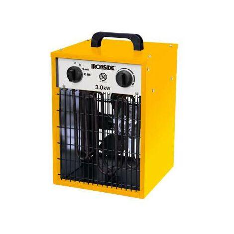 Calefactor profesional 1500w/3000w con termostato y asa de transporte